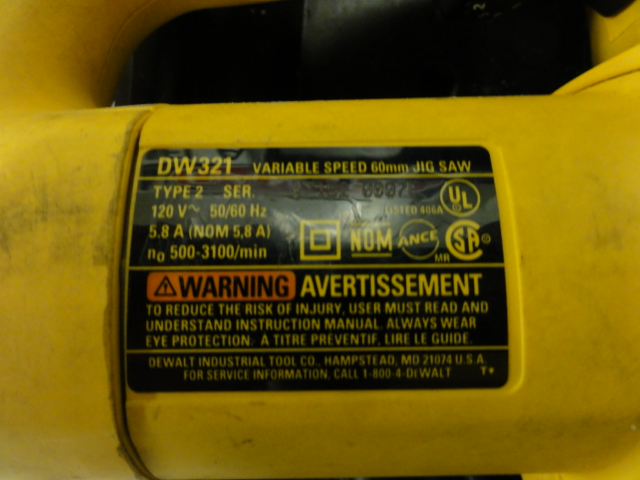 Dewalt dw933 instruction manual.